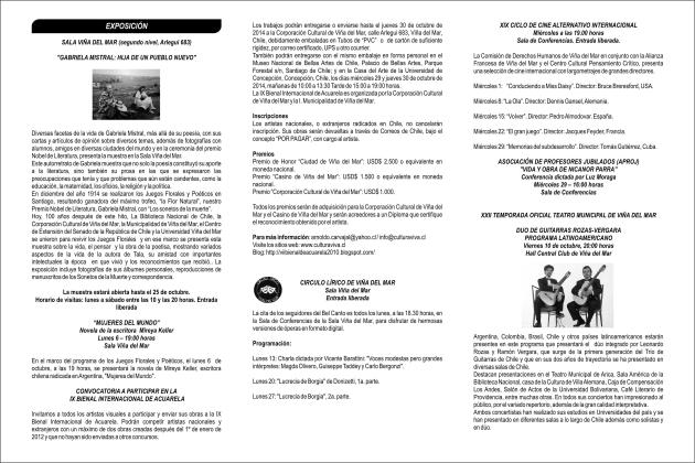 Boletín octubre contraportada