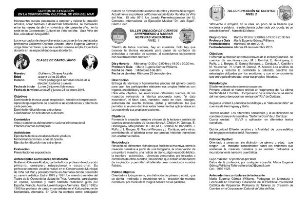 Cursos de Extensión 2015 contraportada