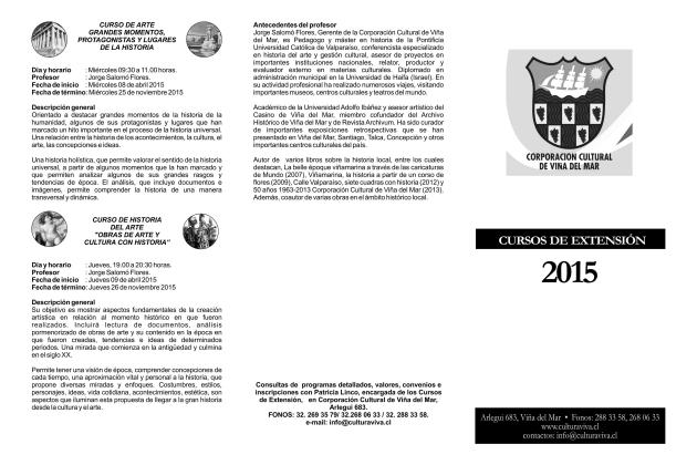 Cursos de Extensión 2015 portada