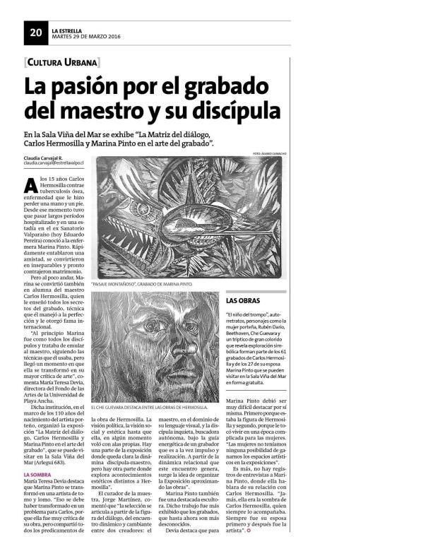 Expo Carlos Hemosilla - La Estrella 29 marzo