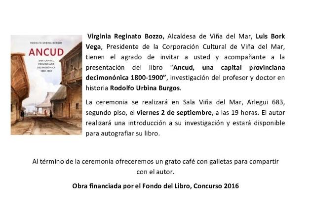 Invitación Rodolfo Urbina