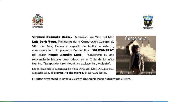 Presentación libro Costanera de Felipe Aragón