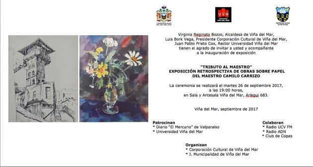 Invitación expo Camilo Carrrizo