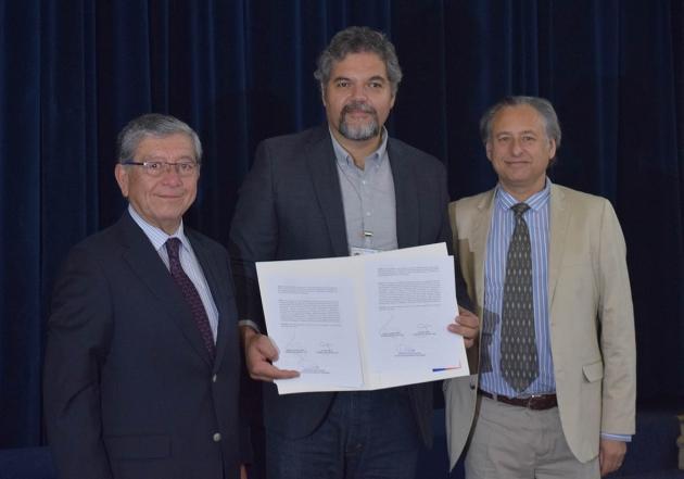 Luis Bork, Rafael de la Maza, Jorge Salomó