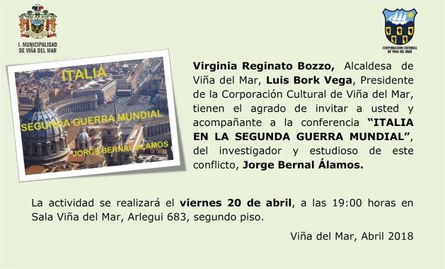 Invitación Confrencia Jorge Bernal