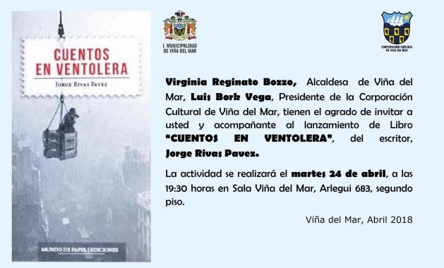 Invitación Lanzamiento libro Jorge Rivas